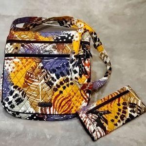 Vera Bradley Triple-Zip Hipster w/matching wallet